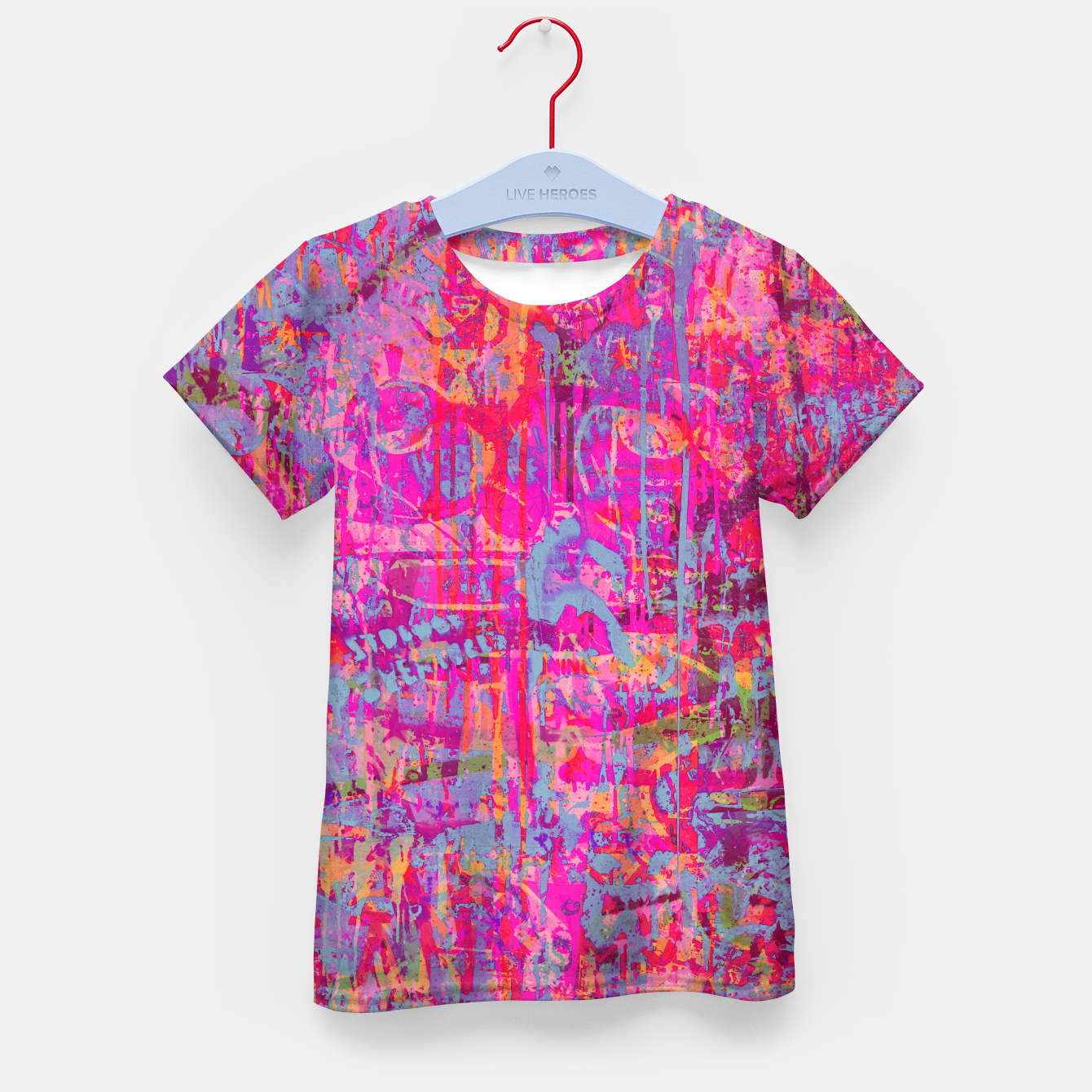 Image of Pink Graffiti Kid's t-shirt - Live Heroes