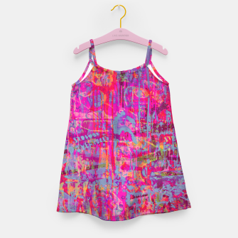 Pink Graffiti Girl's dress obraz miniatury