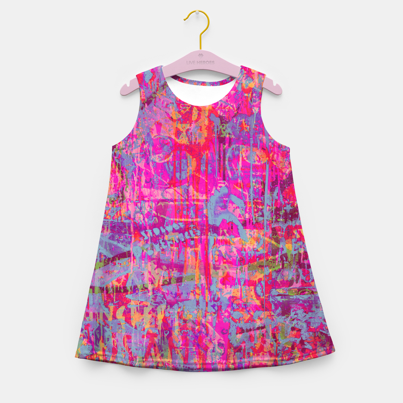 Image of Pink Graffiti Girl's summer dress - Live Heroes
