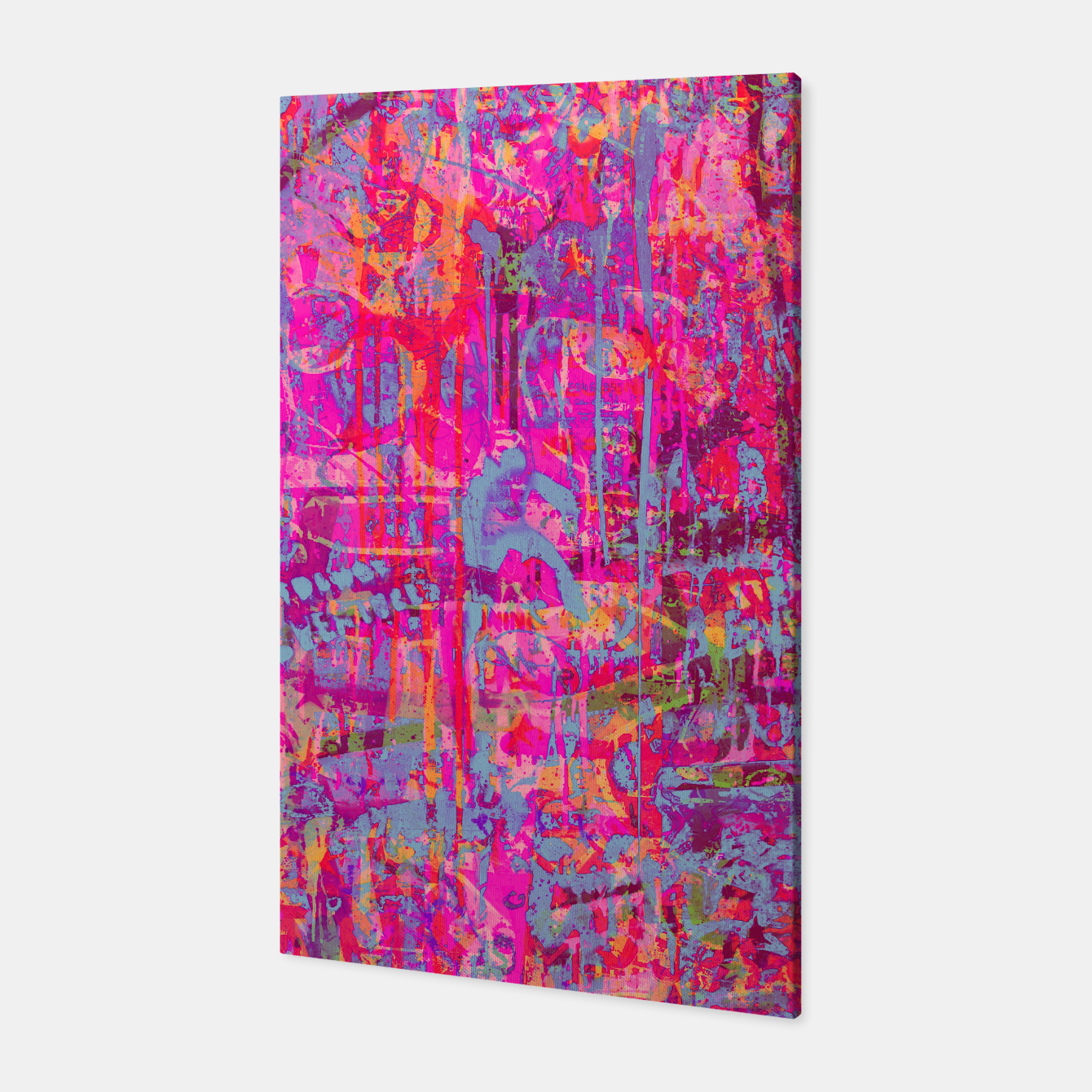 Image of Pink Graffiti Canvas - Live Heroes
