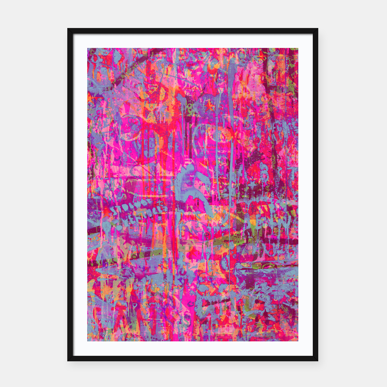 Image of Pink Graffiti Framed poster - Live Heroes