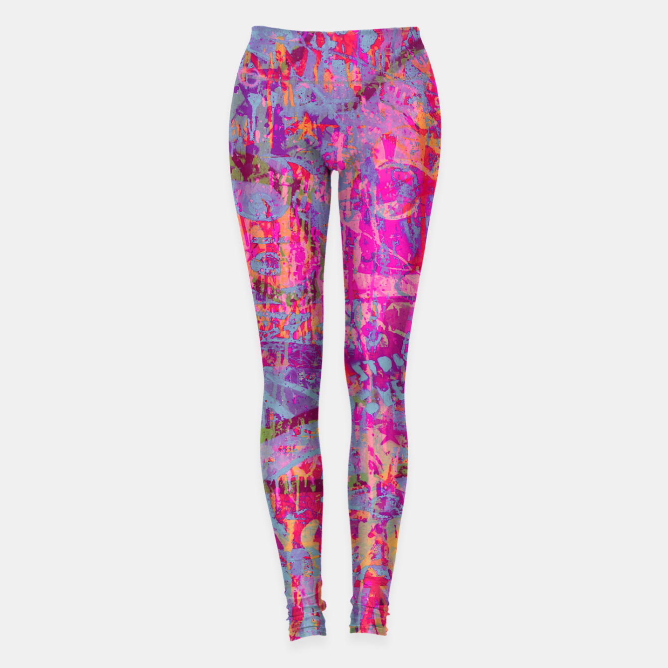 Foto Pink Graffiti Leggings - Live Heroes