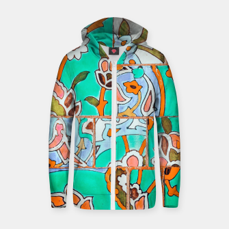 Thumbnail image of Floral Morocco Zip up hoodie, Live Heroes