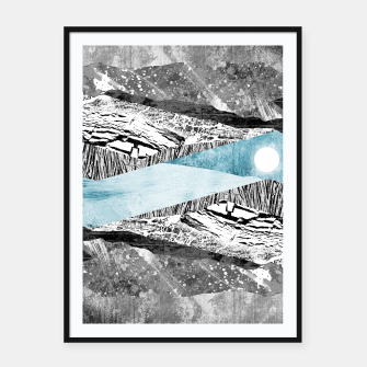 Thumbnail image of A break in the mountains Framed poster, Live Heroes