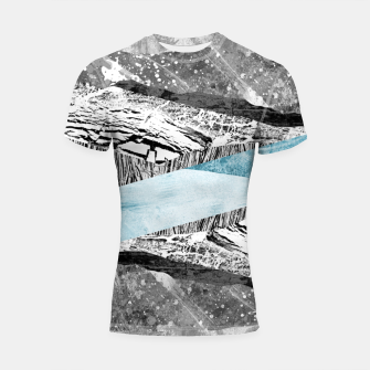 Thumbnail image of A break in the mountains Shortsleeve rashguard, Live Heroes