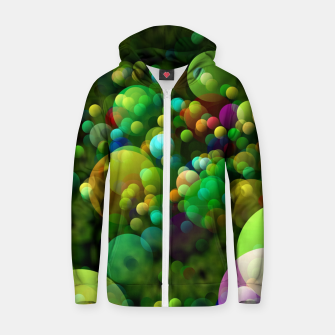 Thumbnail image of Bubbles Zip up hoodie, Live Heroes