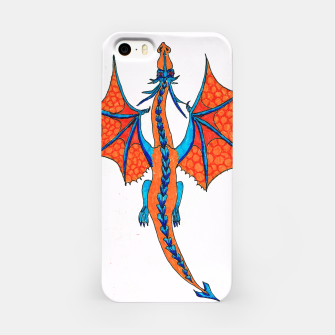 Miniatur dragon flying from above iPhone case, Live Heroes