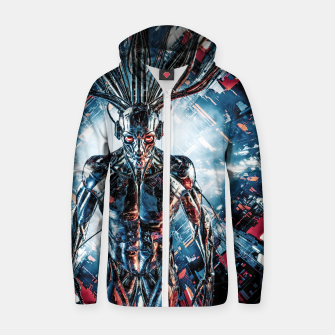 Thumbnail image of Servant Of The Machine Zip up hoodie, Live Heroes