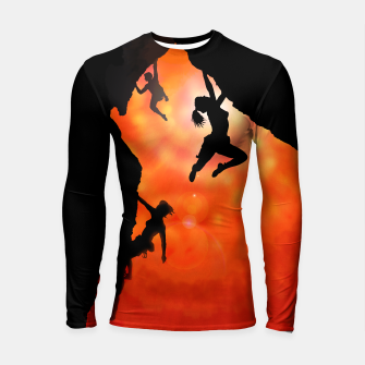 Miniaturka rock climbing in the sun long sleeve rashguard, Live Heroes