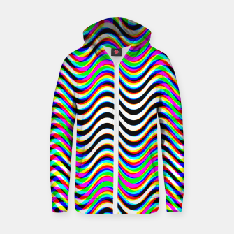 Thumbnail image of Psychedelic Waves Zip up hoodie, Live Heroes