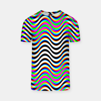 Miniatur Psychedelic Waves T-shirt, Live Heroes