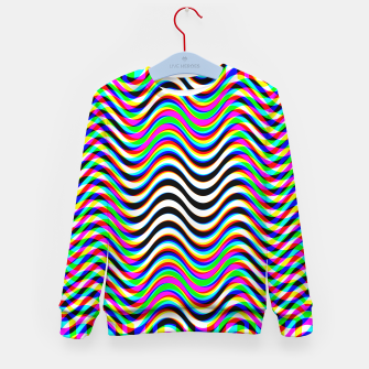 Thumbnail image of Psychedelic Waves Kid's sweater, Live Heroes