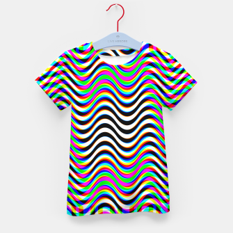Thumbnail image of Psychedelic Waves Kid's t-shirt, Live Heroes