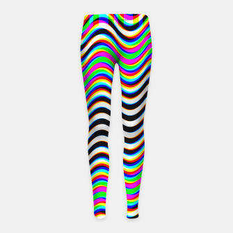 Thumbnail image of Psychedelic Waves Girl's leggings, Live Heroes