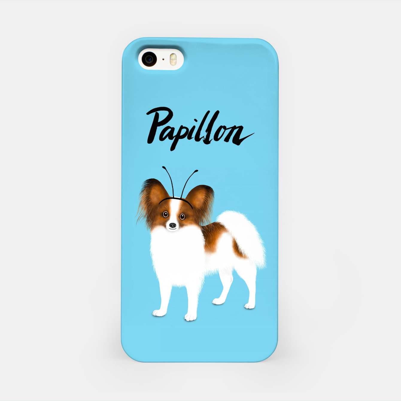 Image of Papillon (Blue) iPhone Case - Live Heroes