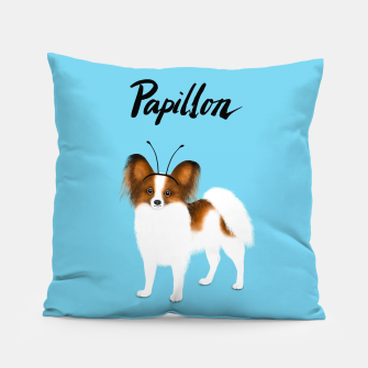 Papillon (Blue) Pillow miniature