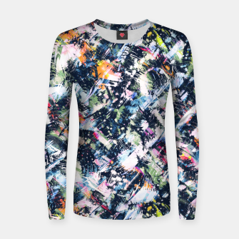 Paintbrush abstract Sudadera para mujeres thumbnail image