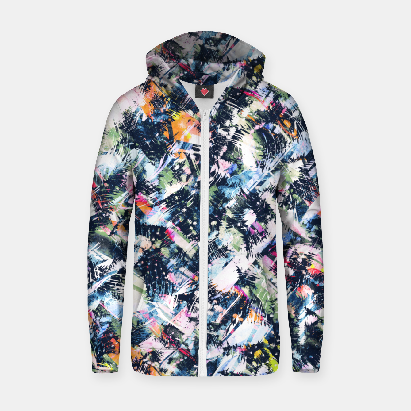 Image of Paintbrush abstract Sudadera con capucha y cremallera  - Live Heroes