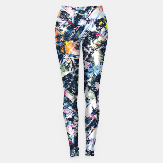 Paintbrush abstract Leggings thumbnail image