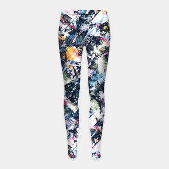 Paintbrush abstract Leggings para niña thumbnail image