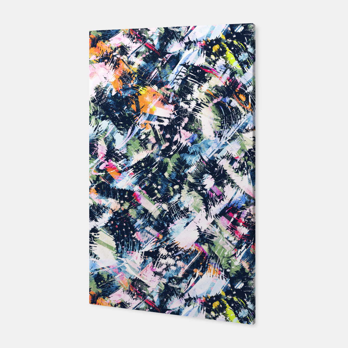 Image of Paintbrush abstract Canvas - Live Heroes