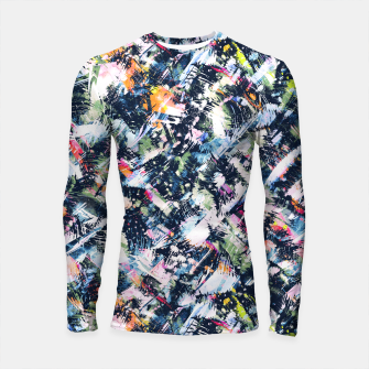 Miniature de image de Paintbrush abstract Longsleeve rashguard, Live Heroes