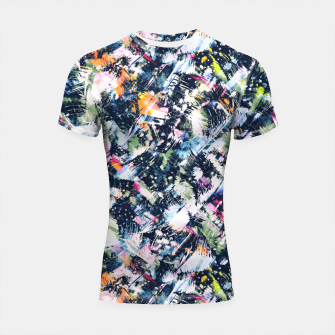 Miniature de image de Paintbrush abstract Shortsleeve rashguard, Live Heroes