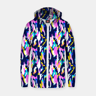 Thumbnail image of Colorful brushstrokes II Sudadera con capucha y cremallera , Live Heroes