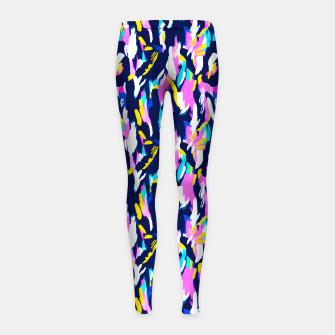 Miniature de image de Colorful brushstrokes II Leggings para niña, Live Heroes
