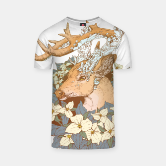 Thumbnail image of Deer Flower T-shirt, Live Heroes