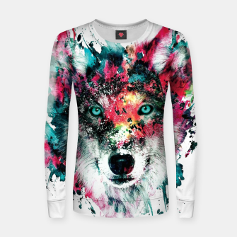 Thumbnail image of Strange Wolf Women sweater, Live Heroes