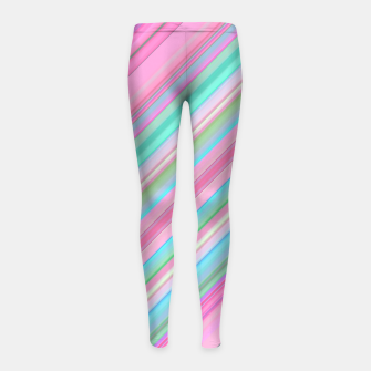 Sloping Lines Girl's leggings miniature