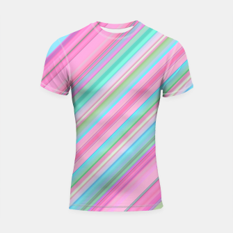 Sloping Lines Shortsleeve rashguard miniature