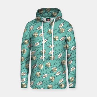 Thumbnail image of Windy buds | Teal And Yellow Floral Pattern Design Hoodie, Live Heroes