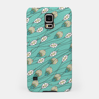 Thumbnail image of Windy buds | Teal And Yellow Floral Pattern Design Samsung Case, Live Heroes