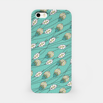 Thumbnail image of Windy buds | Teal And Yellow Floral Pattern Design iPhone Case, Live Heroes