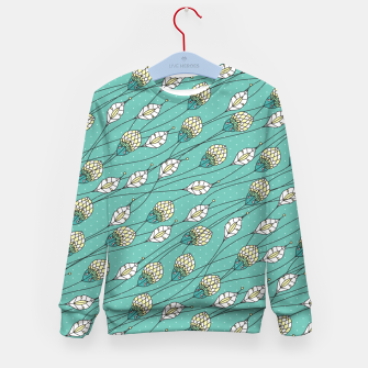 Thumbnail image of Windy buds | Teal And Yellow Floral Pattern Design Kid's sweater, Live Heroes
