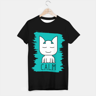 Thumbnail image of Cat Calm Mode | Cute Meditative White Cat Icon T-shirt regular, Live Heroes