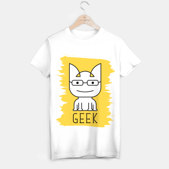 Thumbnail image of Cat Geek Mode | Cute White Cat Icon With Glasses  T-shirt regular, Live Heroes