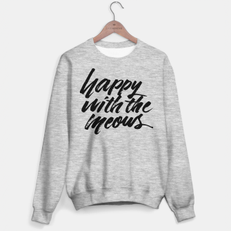 Happy With The Meows | Cats Quote Brush Lettering Sweater regular Bild der Miniatur