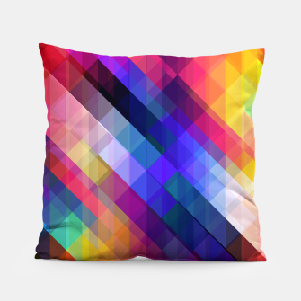 Thumbnail image of Geometric cubes Pillow, Live Heroes