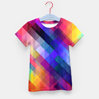 Thumbnail image of Geometric cubes Kid's t-shirt, Live Heroes