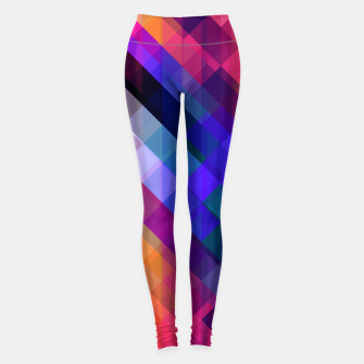Thumbnail image of Geometric cubes Leggings, Live Heroes
