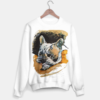 french bulldog puppy Yulia A Korneva coffee and ink Sweater regular thumbnail image