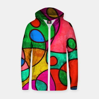 Thumbnail image of Abstract Lines Zip up hoodie, Live Heroes