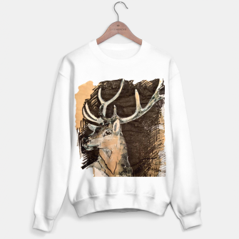 Thumbnail image of Deer coffee and ink Yulia A Korneva Sweater regular, Live Heroes