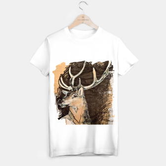 Thumbnail image of Deer coffee and ink Yulia A Korneva T-shirt regular, Live Heroes