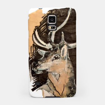 Thumbnail image of Deer coffee and ink Yulia A Korneva Samsung Case, Live Heroes