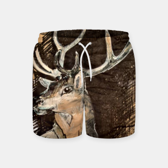 Thumbnail image of Deer coffee and ink Yulia A Korneva Swim Shorts, Live Heroes