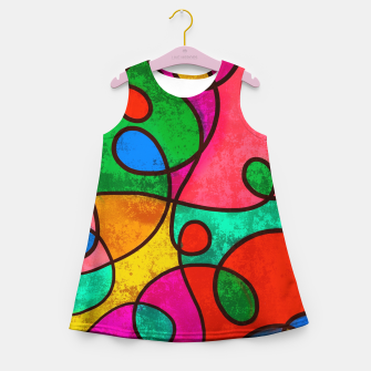 Thumbnail image of Abstract Lines Girl's summer dress, Live Heroes